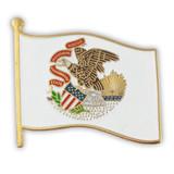 Illinois State Flag Pin