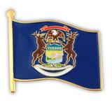 Michigan State Flag Pin