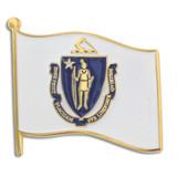 Massachusetts State Flag Pin