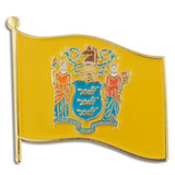 New Jersey State Flag Pin