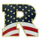 "Republican ""R"" Flag Pin"