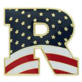 """Republican """"R"""" Flag Pin"""