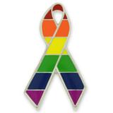 Gay Pride Awareness Ribbon Pin