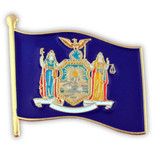 New York State Flag Pin