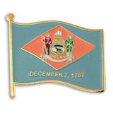Delaware State Flag Pin