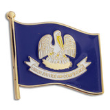 Louisiana State Flag Pin
