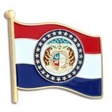 Missouri State Flag Pin