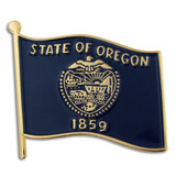 Oregon State Flag Pin