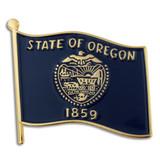 Oregon State Flag Pin