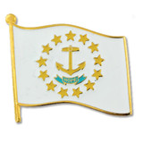 Rhode Island State Flag Pin