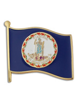 Virginia State Flag Pin