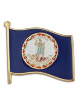 Virginia State Flag Pin
