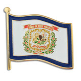 West Virginia State Flag Pin