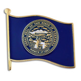 Nebraska State Flag Pin