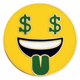 Money Face Emoji Pin
