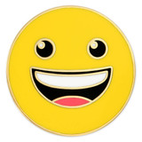 Happy Emoji Pin