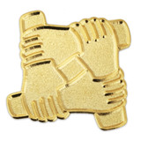 Arm to Arm Teamwork Pin
