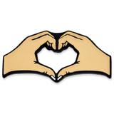 Light Skin Tone Heart Hands Pin