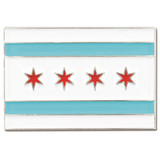 Rectangle Chicago Flag Pin