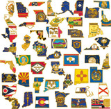 50 State SHAPE Pin Collection