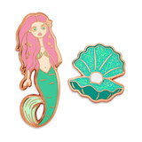 Mermaid Shell 2-Pin Set