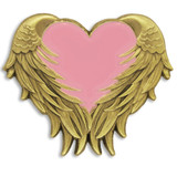Pink Heart with Wings Pin