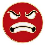 Angry Face Emoji Pin