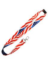 Waving American Flag Lanyard