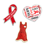 Heart Disease Awareness 3-Pin Set