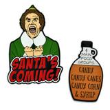 Santa's Coming 2-Pin Set