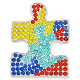 Rhinestone Autism Puzzle Pin