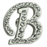 Rhinestone Letter B Pin