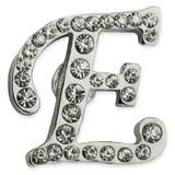 Rhinestone Letter E Pin