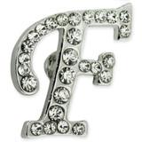 Rhinestone Letter F Pin