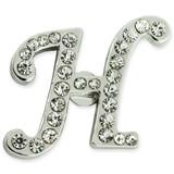 Rhinestone Letter H Pin