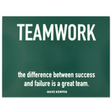 Teamwork Success Presentation Card