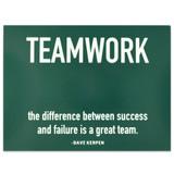 Teamwork Success Presentation Card