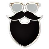 Mustache and Beard Pin