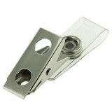 Clear Plastic Snap Strap with Bulldog Clip