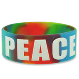 Peace Rubber Bracelet 1 Inch Wide