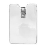 Small Vertical Badge Holder with Clip