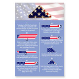 Folded Flag Pin on Card