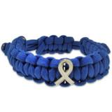 Blue Paracord Bracelet Awareness Ribbon - BOGO