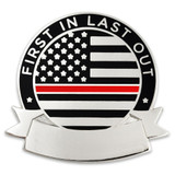 Engravable Thin Red Line Pin