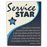 Service Star Card and Pin