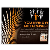 You Make a Difference Card and Pin