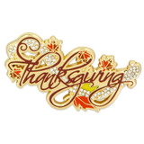 Rhinestone Thanksgiving Brooch