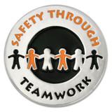 Safety Through Teamwork Pin