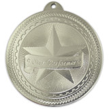 Silver Star Performer Medal - Engravable