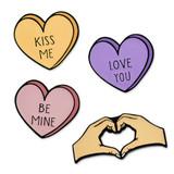 I Heart You 4-Pin Set
